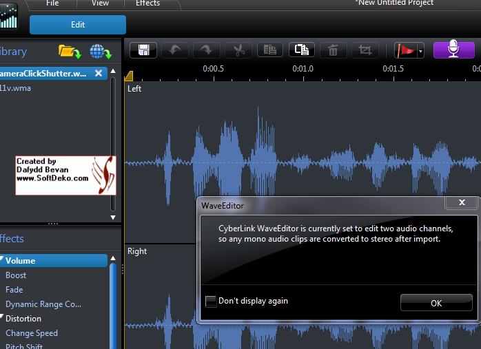 Splitting a stereo audio track