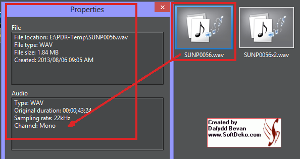 Mono Sound in Both Channels on AVC file and Single Channel